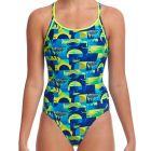 Funkita Ladies Diamond Back Swim One Piece FS11L Magnum Pi Womens Swimwear