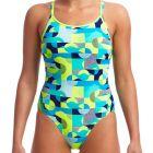 Funkita Ladies Diamond Back One Piece FS11L Sand Storm Womens Swimwear