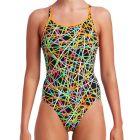 Funkita Swim Diamond Back One Piece FS11L Strapped In Womens Swimwear
