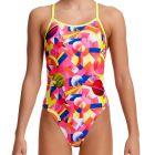 Funkita Girls Single Strap Swim One Piece FS16G Pink Pluto Kids Swimwear