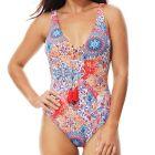 Moontide Murano Plunge Swim Suit M4828MO Orange Womens Swimwear