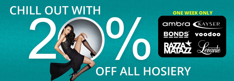 20% Off Hosiery Sale