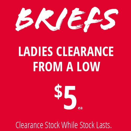 Ladies Briefs from $5