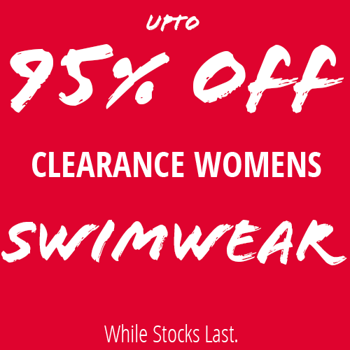 Upto 95% Off Selected Clearance Swimwear