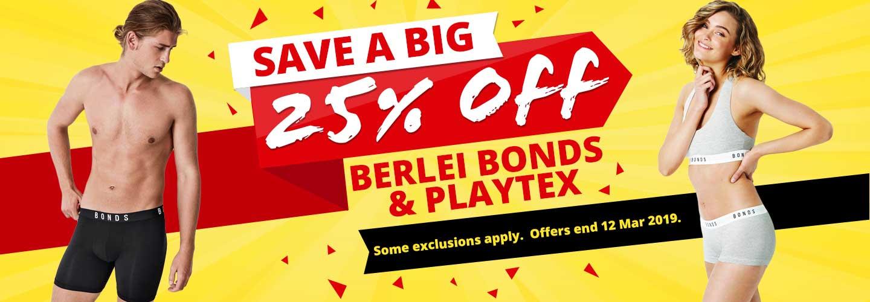 Shop Berlei, Bonds & Playtex Sale