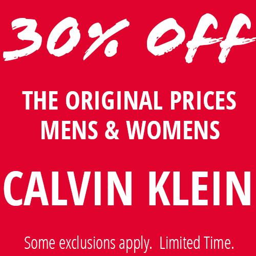 30% Off Mens & Womens Calvin Klein