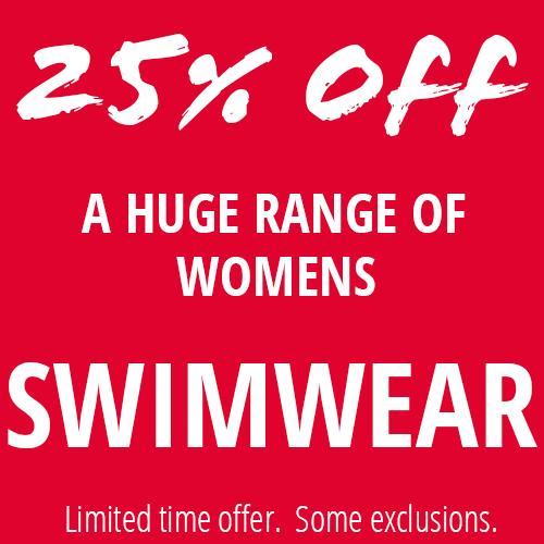25% Off A Big Range Of Womens Swimwear